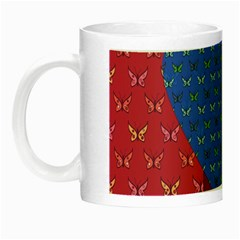 Butterfly Heart Pattern Night Luminous Mugs by Simbadda
