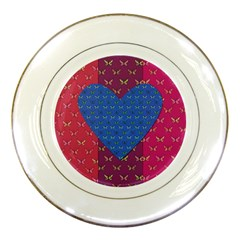 Butterfly Heart Pattern Porcelain Plates by Simbadda