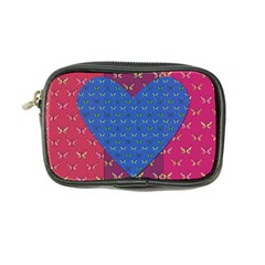Butterfly Heart Pattern Coin Purse by Simbadda