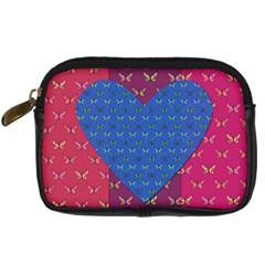 Butterfly Heart Pattern Digital Camera Cases by Simbadda