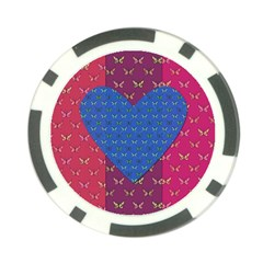 Butterfly Heart Pattern Poker Chip Card Guard (10 Pack) by Simbadda