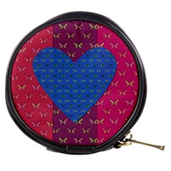 Butterfly Heart Pattern Mini Makeup Bags by Simbadda