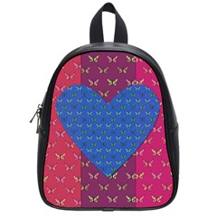 Butterfly Heart Pattern School Bags (small)  by Simbadda
