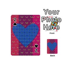 Butterfly Heart Pattern Playing Cards 54 (mini)  by Simbadda