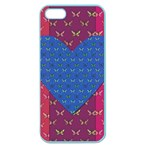 Butterfly Heart Pattern Apple Seamless iPhone 5 Case (Color) Front