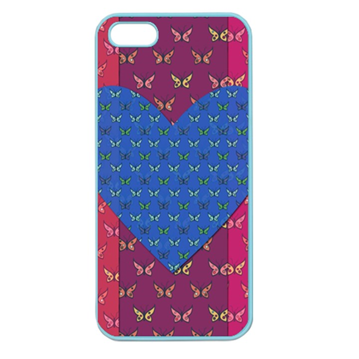 Butterfly Heart Pattern Apple Seamless iPhone 5 Case (Color)