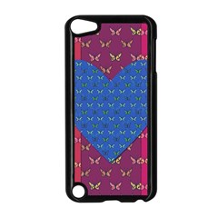 Butterfly Heart Pattern Apple Ipod Touch 5 Case (black) by Simbadda