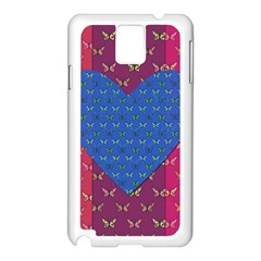 Butterfly Heart Pattern Samsung Galaxy Note 3 N9005 Case (white)