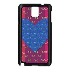 Butterfly Heart Pattern Samsung Galaxy Note 3 N9005 Case (black) by Simbadda