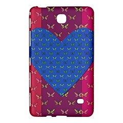 Butterfly Heart Pattern Samsung Galaxy Tab 4 (7 ) Hardshell Case  by Simbadda