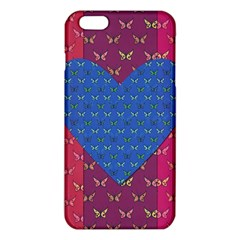 Butterfly Heart Pattern Iphone 6 Plus/6s Plus Tpu Case by Simbadda
