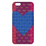 Butterfly Heart Pattern iPhone 6 Plus/6S Plus TPU Case Front