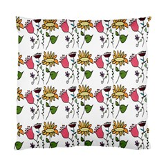 Handmade Pattern With Crazy Flowers Standard Cushion Case (one Side) by Simbadda