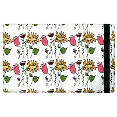 Handmade Pattern With Crazy Flowers Apple Ipad 3/4 Flip Case by Simbadda