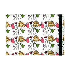 Handmade Pattern With Crazy Flowers Apple Ipad Mini Flip Case by Simbadda