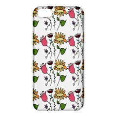 Handmade Pattern With Crazy Flowers Apple Iphone 5c Hardshell Case by Simbadda