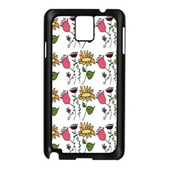 Handmade Pattern With Crazy Flowers Samsung Galaxy Note 3 N9005 Case (black) by Simbadda
