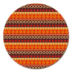 Abstract Lines Seamless Pattern Magnet 5  (round) by Simbadda