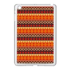 Abstract Lines Seamless Pattern Apple Ipad Mini Case (white) by Simbadda