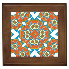 Digital Computer Graphic Geometric Kaleidoscope Framed Tiles by Simbadda