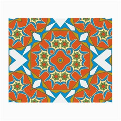 Digital Computer Graphic Geometric Kaleidoscope Small Glasses Cloth (2 Side) by Simbadda