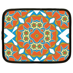 Digital Computer Graphic Geometric Kaleidoscope Netbook Case (xxl)