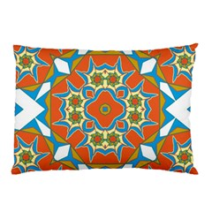 Digital Computer Graphic Geometric Kaleidoscope Pillow Case (two Sides) by Simbadda