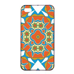 Digital Computer Graphic Geometric Kaleidoscope Apple Iphone 4/4s Seamless Case (black) by Simbadda