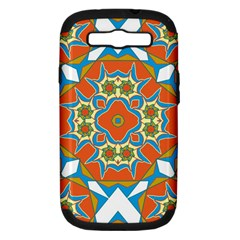 Digital Computer Graphic Geometric Kaleidoscope Samsung Galaxy S Iii Hardshell Case (pc+silicone) by Simbadda