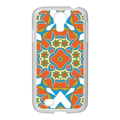 Digital Computer Graphic Geometric Kaleidoscope Samsung Galaxy S4 I9500/ I9505 Case (white) by Simbadda