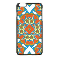 Digital Computer Graphic Geometric Kaleidoscope Apple Iphone 6 Plus/6s Plus Black Enamel Case by Simbadda