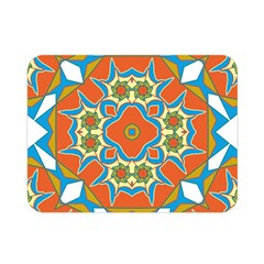 Digital Computer Graphic Geometric Kaleidoscope Double Sided Flano Blanket (mini)  by Simbadda