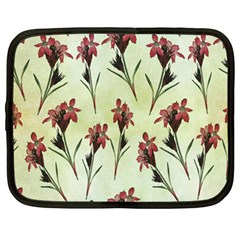 Vintage Style Seamless Floral Wallpaper Pattern Background Netbook Case (large) by Simbadda