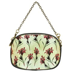 Vintage Style Seamless Floral Wallpaper Pattern Background Chain Purses (one Side)