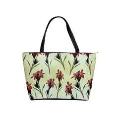 Vintage Style Seamless Floral Wallpaper Pattern Background Shoulder Handbags by Simbadda