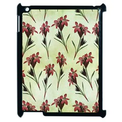 Vintage Style Seamless Floral Wallpaper Pattern Background Apple Ipad 2 Case (black) by Simbadda