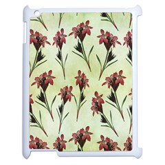 Vintage Style Seamless Floral Wallpaper Pattern Background Apple Ipad 2 Case (white) by Simbadda