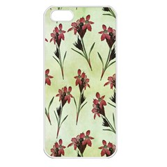 Vintage Style Seamless Floral Wallpaper Pattern Background Apple Iphone 5 Seamless Case (white) by Simbadda
