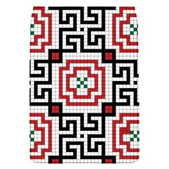 Vintage Style Seamless Black, White And Red Tile Pattern Wallpaper Background Flap Covers (s)