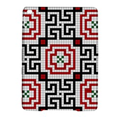 Vintage Style Seamless Black, White And Red Tile Pattern Wallpaper Background Ipad Air 2 Hardshell Cases