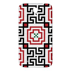 Vintage Style Seamless Black, White And Red Tile Pattern Wallpaper Background Samsung Galaxy Mega I9200 Hardshell Back Case by Simbadda