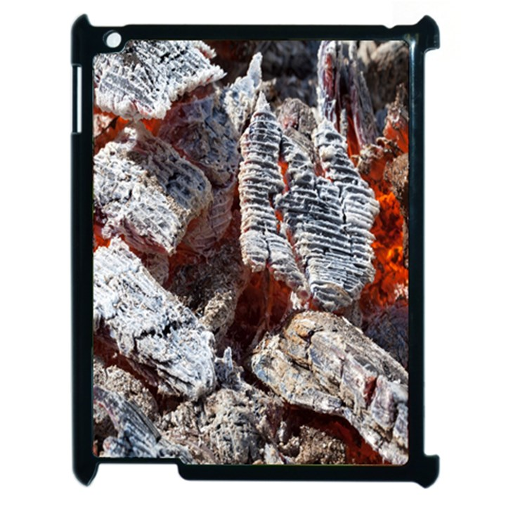 Wooden Hot Ashes Pattern Apple iPad 2 Case (Black)