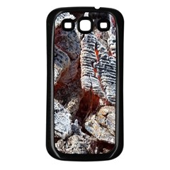 Wooden Hot Ashes Pattern Samsung Galaxy S3 Back Case (black)