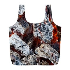 Wooden Hot Ashes Pattern Full Print Recycle Bags (l)