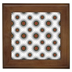 Pearly Pattern Half Tone Background Framed Tiles