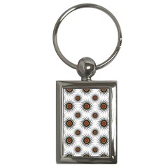 Pearly Pattern Half Tone Background Key Chains (rectangle)
