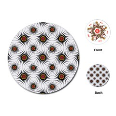 Pearly Pattern Half Tone Background Playing Cards (round)  by Simbadda