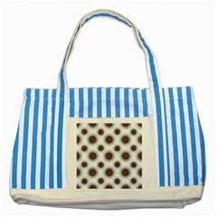 Pearly Pattern Half Tone Background Striped Blue Tote Bag by Simbadda