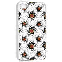 Pearly Pattern Half Tone Background Apple Iphone 4/4s Seamless Case (white) by Simbadda
