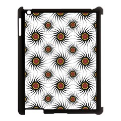 Pearly Pattern Half Tone Background Apple Ipad 3/4 Case (black)